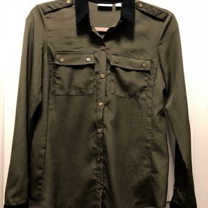 New York Company NYCO Green Black Top XS